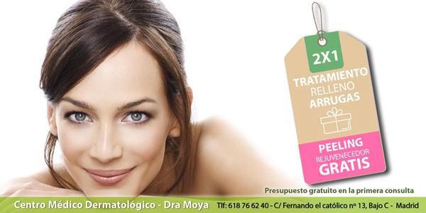 Promoción – Tratamiento 2×1 – Relleno de arrugas + Peeling rejuvenecedor (Gratis)
